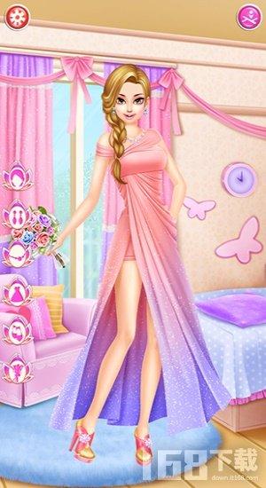公主婚礼换装和化妆