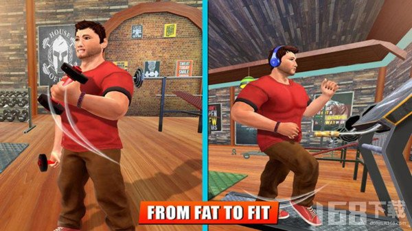 肥胖男孩在健身