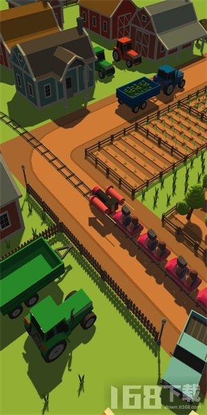 火车冲鸭环绕城市