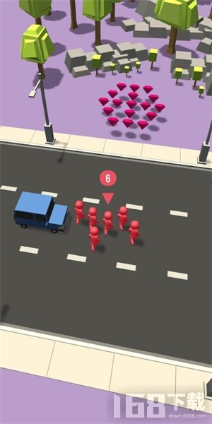 人类过马路