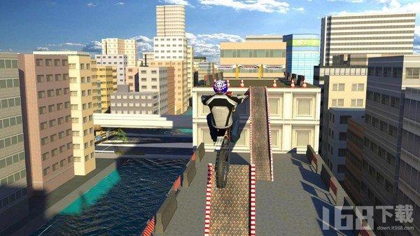屋顶自行车