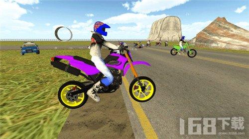 追逐特技摩托手