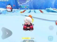 跑跑卡丁车手游带箭头的冰筑跳台宝藏位置介绍