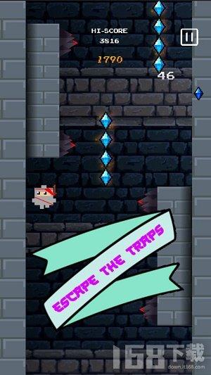 忍者爬墙跳跃
