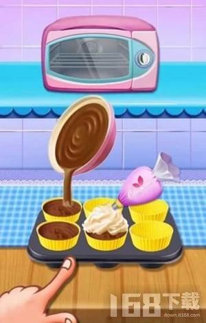 美味蛋糕的烘焙时刻