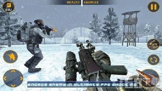 狙击手冬天吃鸡枪战