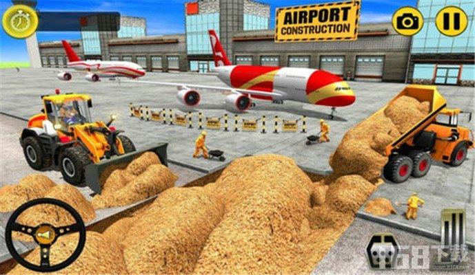 机场施工挖掘机