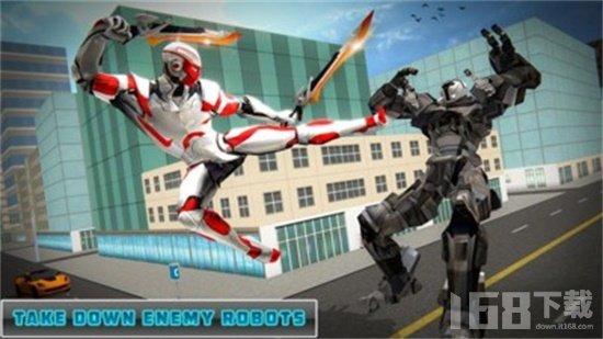双剑英雄机器人