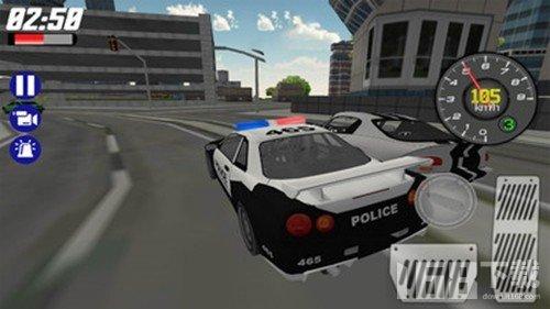 模拟警车巡逻