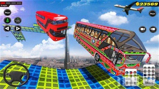 天空轨道巴士驾驶模拟3D