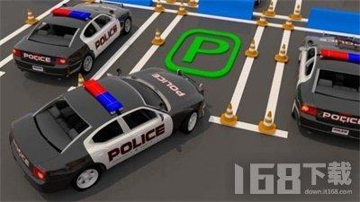 真实警车停车场3D