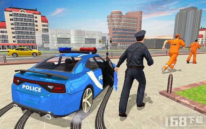 驾驶警车歹徒追逐犯罪