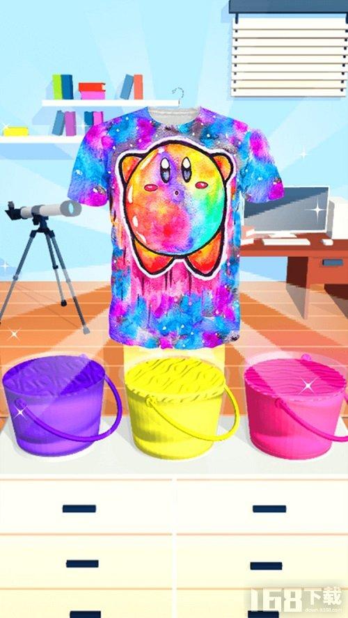 模拟扎染衣服