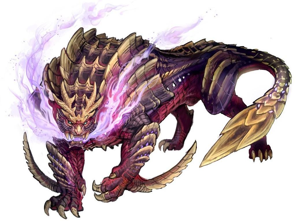 怪物猎人Rise发布新概念图 怨虎龙气势非凡