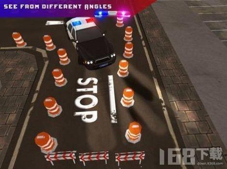 警车高难度停车驾驶挑战