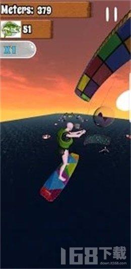 跑步者风筝冲浪