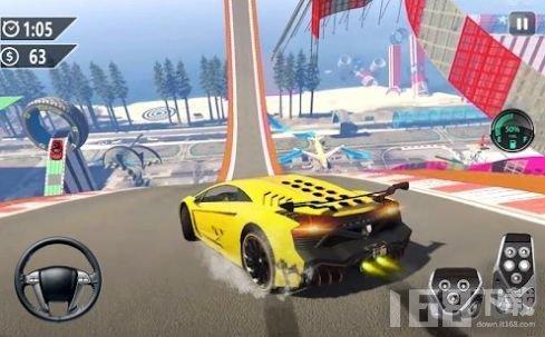 超级赛道汽车跳跃3D中文版