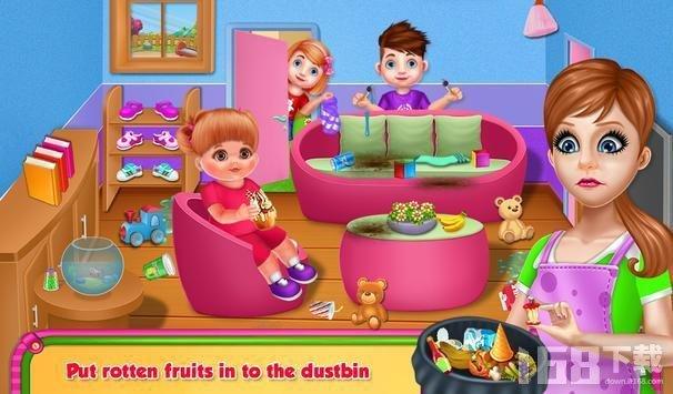 戴安娜宝宝的房子打扫