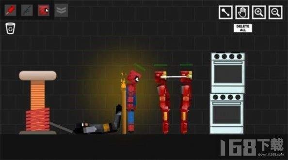 像素蜘蛛侠与铁人