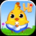小鸡学游泳
