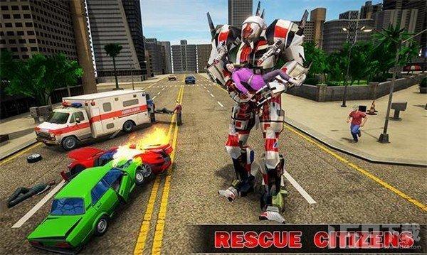 救援城市变形救护机器人