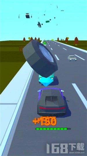 汽车街头粉碎