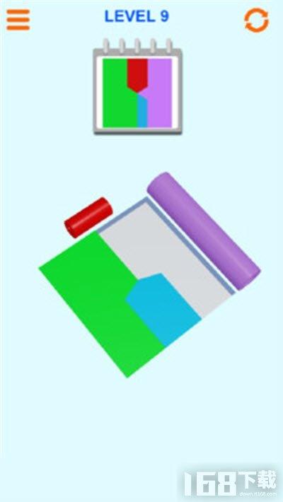 彩色卷拼图
