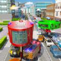 消防车救援未来城市
