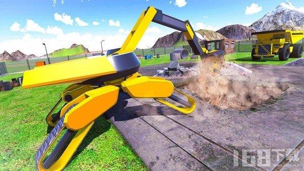 未来派挖掘机建设模拟器