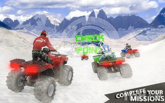 雪上测试四轮赛车