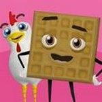 鸡肉华夫饼干