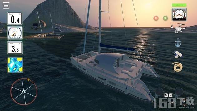 轮船3D停靠