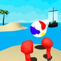 火柴人沙滩球