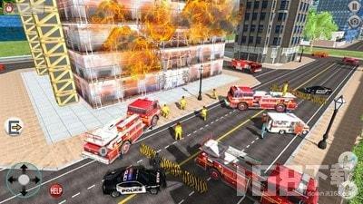 消防队救援行动