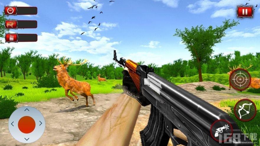 野生鹿的猎人