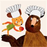 与饥饿的熊烹饪