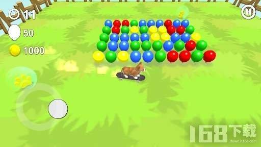 小狗与气球游戏