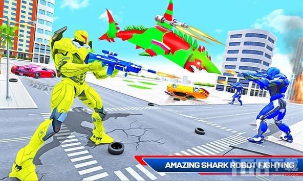 鲨鱼机器人攻击