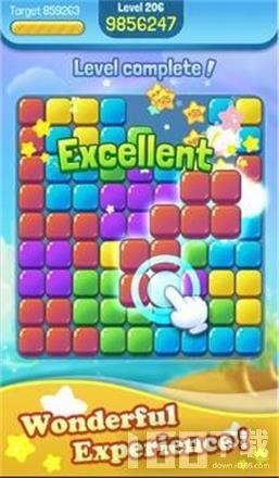 可爱的彩色方块