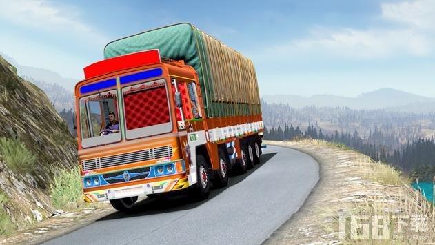 真正的山区货运卡车