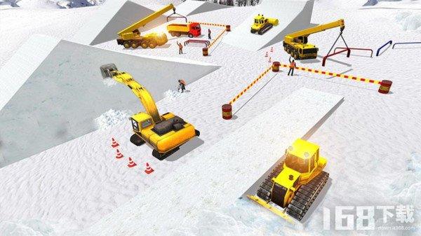 雪山挖掘机模拟器