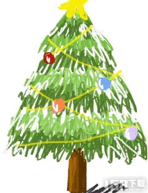 备忘录画圣诞树