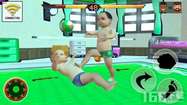 宝宝摔跤对决