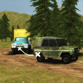 泥泞山污垢卡车