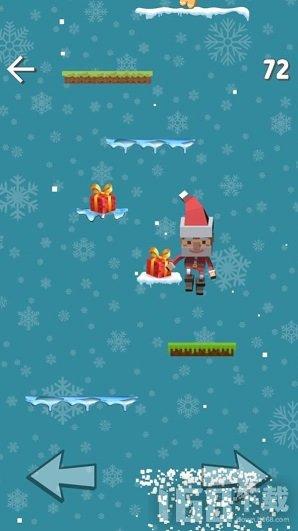 像素圣诞老人跳高高
