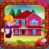 女孩粉红房子建设