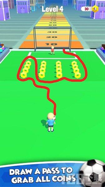 画线足球射门