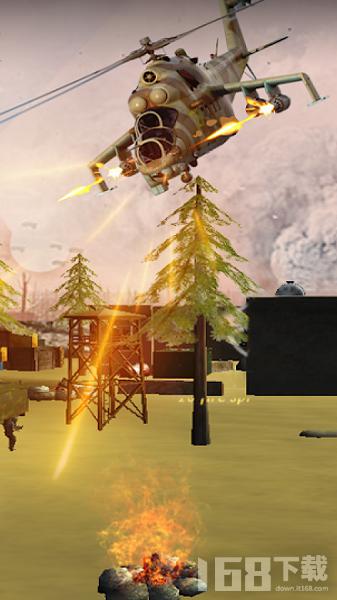 黑鹰直升机空中打击