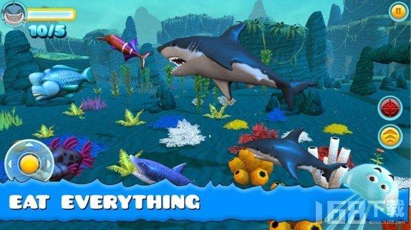 大鲨鱼进食游戏