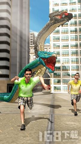 巨型蟒蛇城市破坏